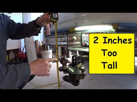 RV Travel Trailer towing. Taller truck shorter Hitch