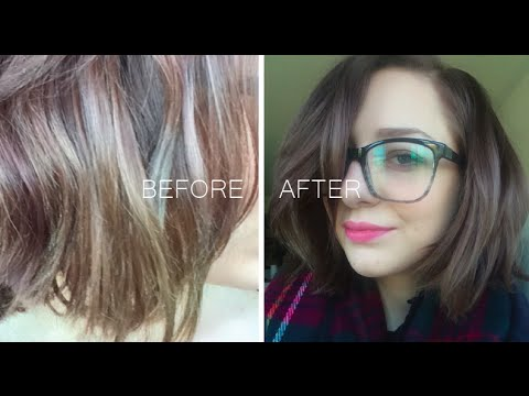 QUICK FIX FOR HAIR COLOR DISASTER -  'Fanci-Full Color Rinse' - NO DAMAGE