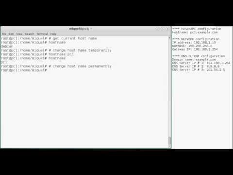 How to change hostname on linux debian