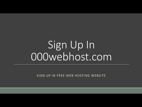 How To: Sign Up For Free Domain And Web Hosting In 000webhost.com and Install WordPress (In Urdu)