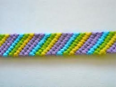 Friendship Bracelets for Beginners~Candy Stripe Bracelet