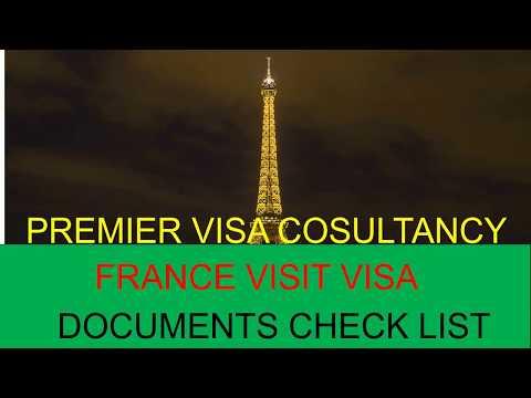 France Visa Documents Check list & France Visa Requirements 2018