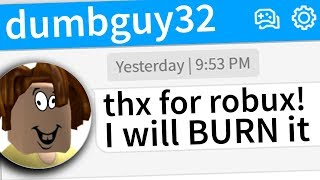 ROBLOX PLAYERS WASTE MY ROBUX