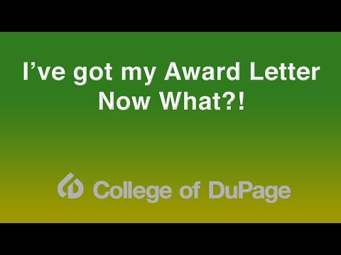 Financial Aid Presentation - I've Got My Award Letter...Now What?