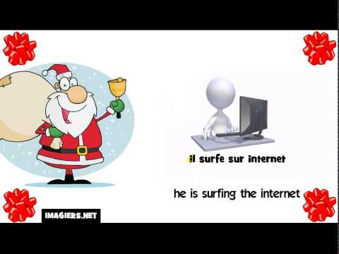 Learn French with Santa # he is surfing the internet