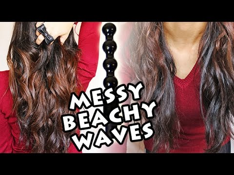 Messy Beachy Waves - How To Use A Pearl Wand | MakeupAndArtFreak