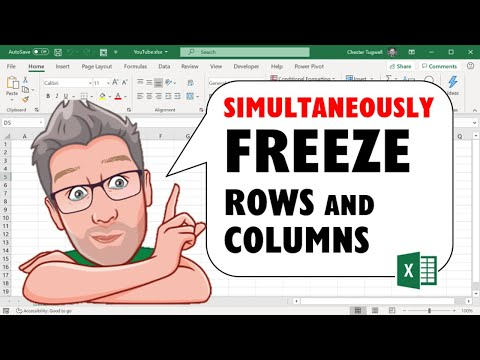 How to Simultaneously Freeze Rows and Columns in Excel