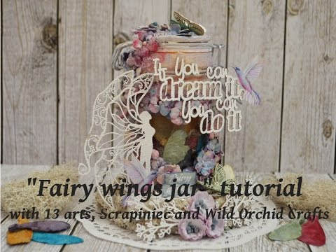 Fairy wings jar tutorial