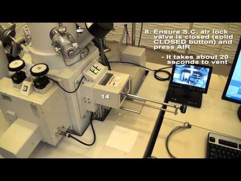 Hitachi S-4800 SEM sample removal