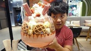 massive ice cream sundae 22 scoops in bangkok thailand