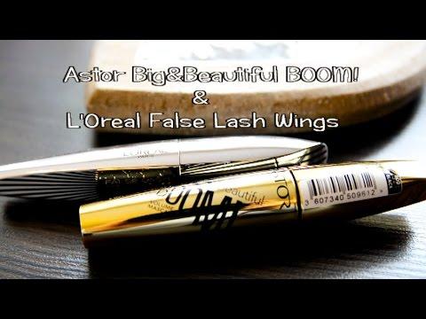 Tusz do rzęs Big&Beautiful Boom ASTOR vs. False Lash Wings L'OREAL Porównanie