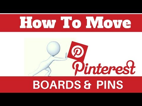 How To Move Boards And Pins On Pinterest