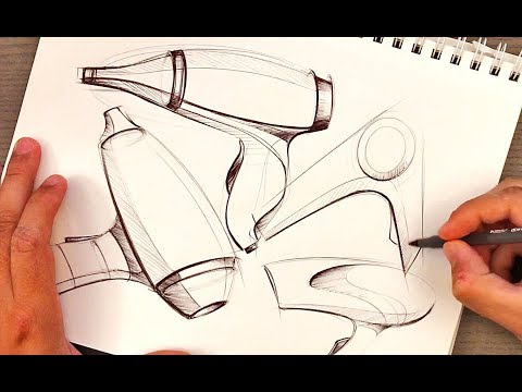 Industrial Design Ideation Sketching with BiC Pen