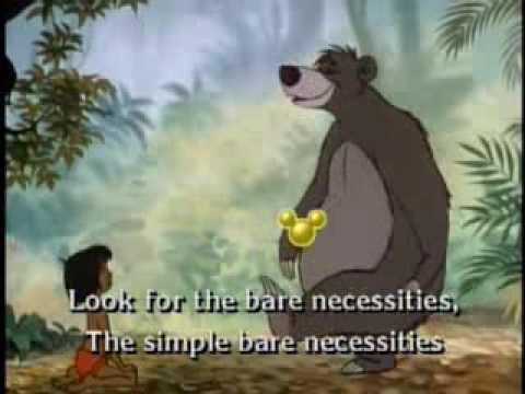 Bare Necessities [Sing Along Song]