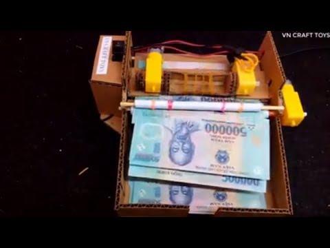 WOW!  How To Make Amazing Money Counting Machine – Cardboard