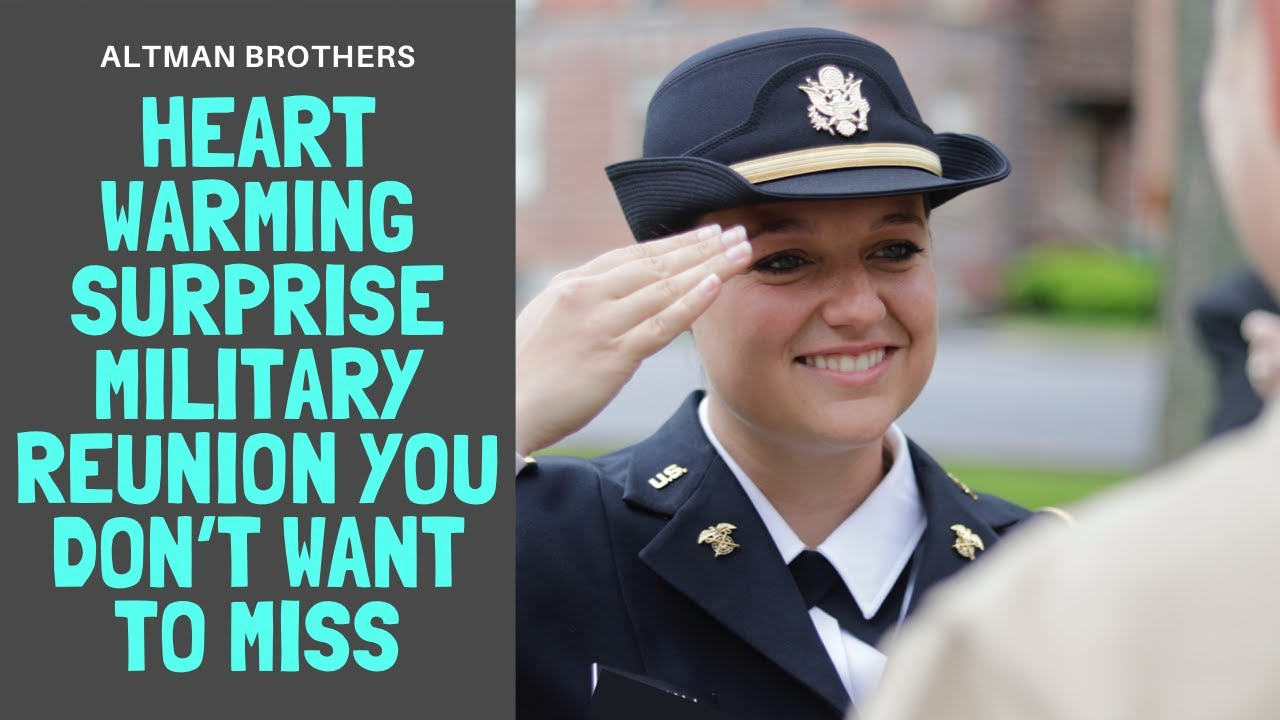 Heart Warming Surprise Military Homecoming July 4th Gettysburg