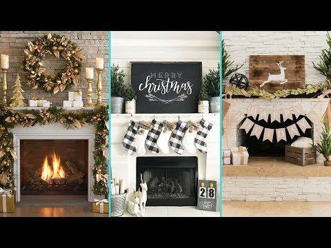 ❤ DIY Shabby chic style Christmas Mantle decor Ideas❤ | Christmas Fireplace decor | Flamingo Mango|