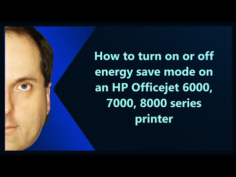 How to turn on or off energy save mode on an HP Officejet 6000, 7000, 8000 series printer