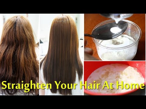 Straighten Your Hair At Home Instantly With All Natural Ingredients | Straight Hair Without Heat!!