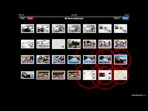 Selecting Multiple Photos (iPad only)