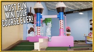 THE BEST AND MOST FUN MINI GOLF COURSE EVER! - THE CRAZIEST HOLES IN ONE! | Brooks Holt