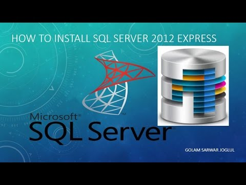 How to install SQL server 2012 in windows 7
