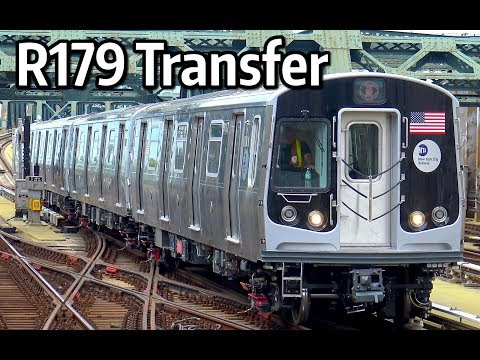 ⁴ᴷ R179 Subway Cars 3114-3117 being transferred from East NY Yard to Coney Island Yard