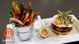Elevated Diner Food Mystery Box Challenge | MasterChef Canada | MasterChef World