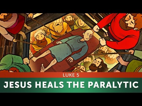 Sunday School Lesson for Kids - Jesus Heals the Paralytic - Luke 5 - Bible Story forTeaching VBS