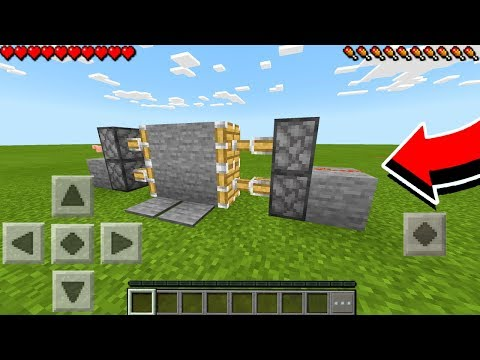 HOW TO MAKE A PISTON DOOR in Minecraft PE - MCPE Redstone / Tutorial (Pocket Edition)