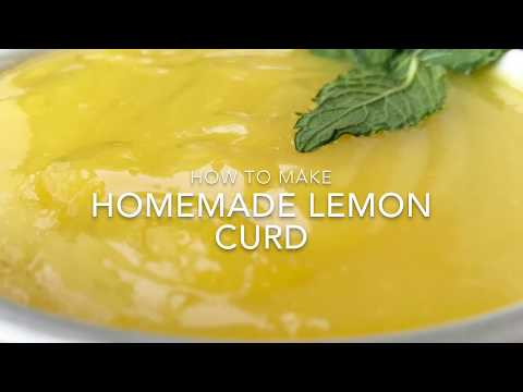 Homemade Lemon Curd Recipe - How to Make Lemon Curd