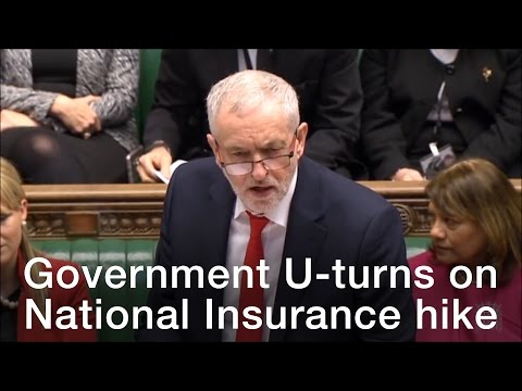 Government U-turns on National Insurance hike