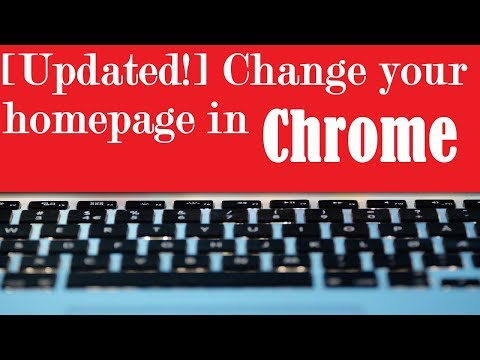 [UPDATED!] Change your homepage in Google Chrome
