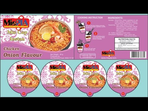 Make a Label Design Package Instant Noodle Cup In CORELDRAW