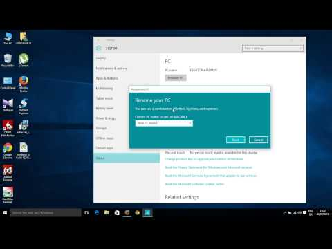 Change PC name in Windows 10