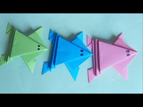 How To Make a Paper Jumping Frog , Origami jumping frog , Paper frog jumps high , Great Paper Art