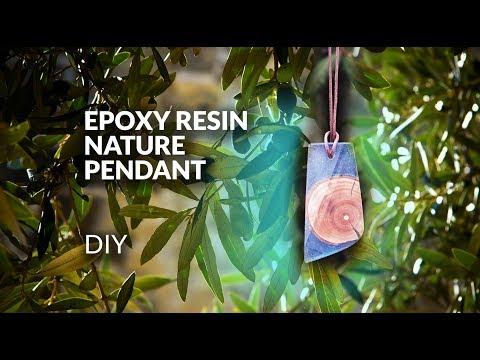 DIY epoxy resin & wood pendant