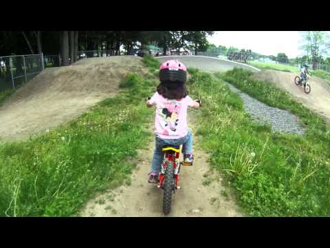 3 year old on the BMX track