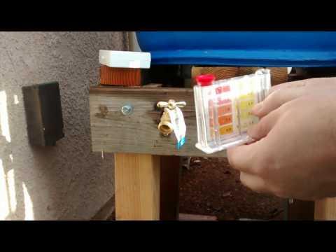 Rain water ph and chlorine test