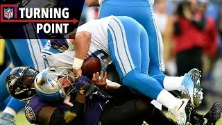 Terrell Suggs & Ravens Pressure Gets to Matthew Stafford (Week 13)   NFL Turning Point