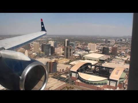 Awesome Downtown Approach!!!  Fantastic HD 757 Landing At Phoenix Sky Harbor!!!