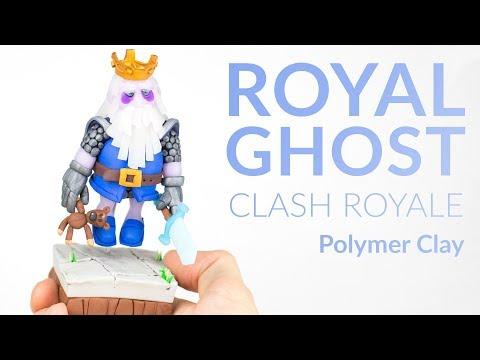 Royal Ghost (Clash Royale) – Polymer Clay Tutorial
