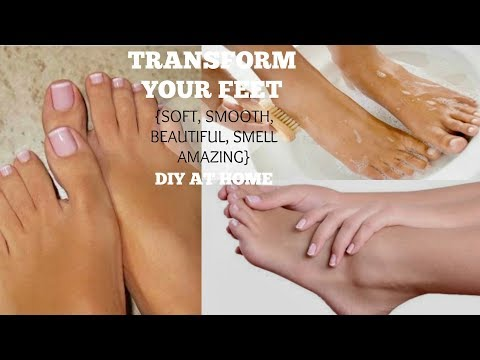 HOW TO GET SOFT & SMOOTH FEET OVERNIGHT | Make Your Feet Sexy + Smell Good (At Home DIY)