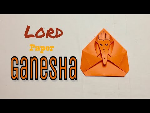 How to make paper Ganesha || origami Ganpati || making at home for kids Ganesha