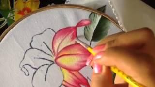 Pintura En Tela Como Pintar Flores Lilis