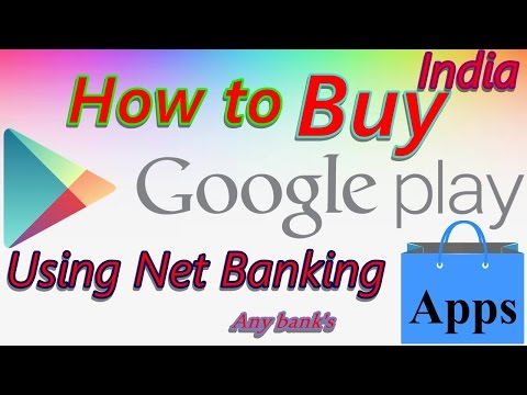 Buy paid Apps or games from playstore using Net Banking