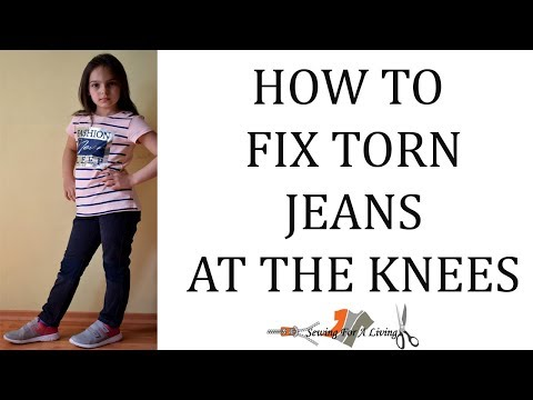 How to fix torn jeans at the knees