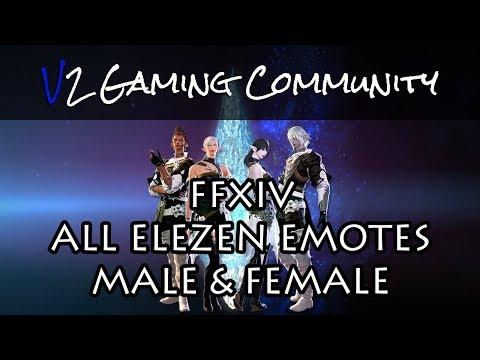 FFXIV - Elezen Emotes Male/Female