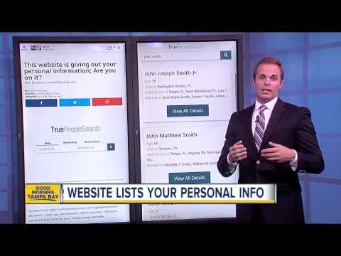 Website lists your personal information, how to remove yourself