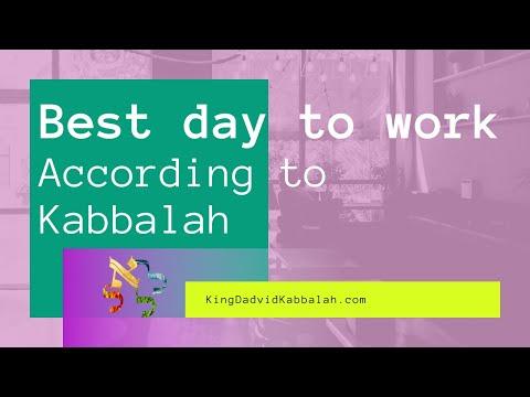Best days of the Week to work, Kabbalah